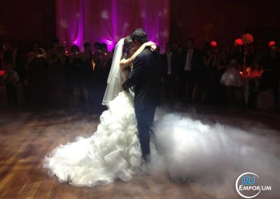 Smoke During Bride & Groom First Dance